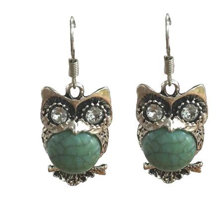 OWL VINTAGE EARRINGS