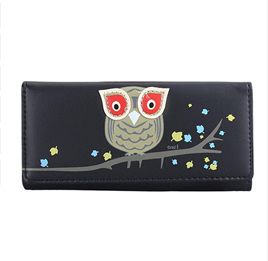 OWL WALLET - BLACK