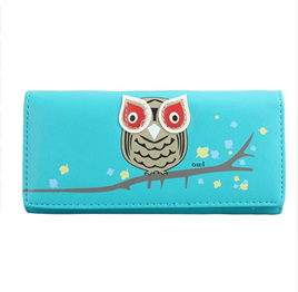 OWL WALLET - BLUE