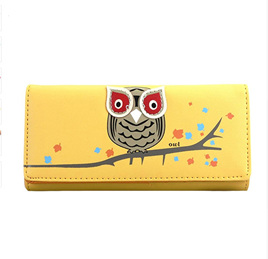 OWL WALLET - YELLOW