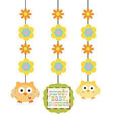 Owls Fancy Hanging Cutouts x 3