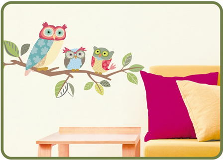Owls - Self Adhesive Wall Stickers
