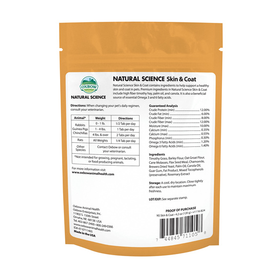Oxbow Natural Science Skin/Coat Support