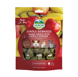 Oxbow Simple Rewards Baked Treats with Apple & Banana