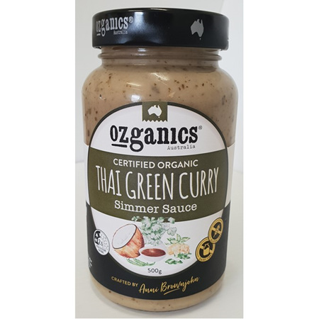 Ozganics Thai Green Curry Simmer Sauce - 500g