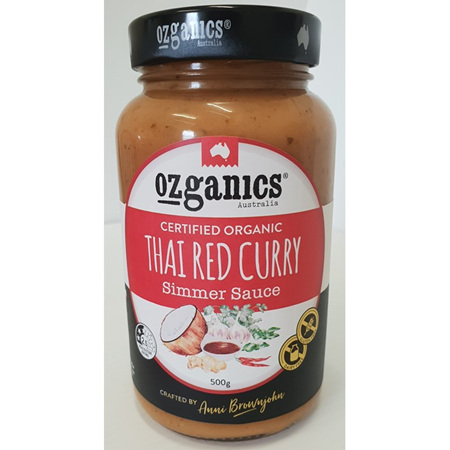 Ozganics Thai Red Curry Sauce 500g