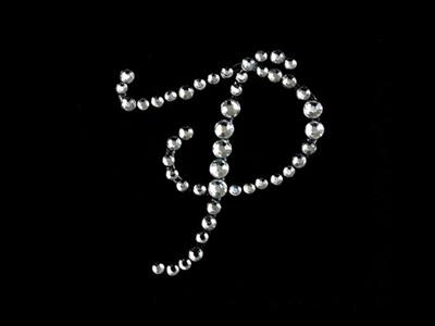 'P' letter rhinestone