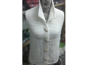 P118 Womens sleeveless vest Pattern