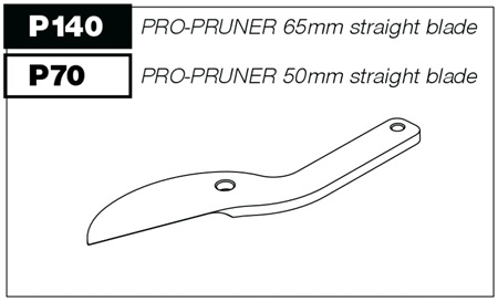 P140 Straight blade for P100 Pro-Pruner