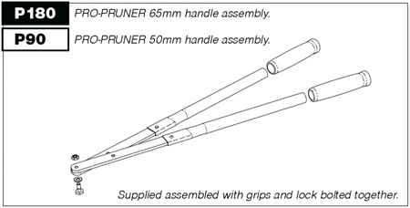 P180 Handles (pair) for P100 Pro-Pruner