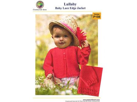 P198 Baby Lace Edge Jacket Pattern