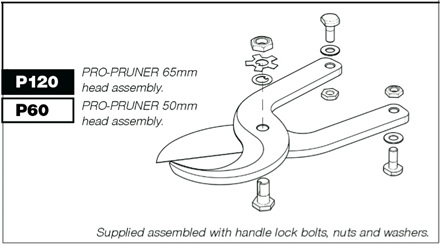 P60 Pruner head for P50 Pro-Pruner