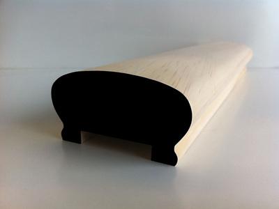 Earthen Radiata Interior Hand Rail HR1 Profile 80x43mm