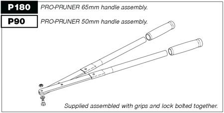 P90 Handles (pair) for P50 Pro-Pruner