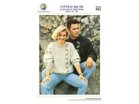 P91 Easy Knit Sweater Pattern