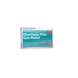 PA DIARRHOEA PLUS GAS RELIEF 12 TAB