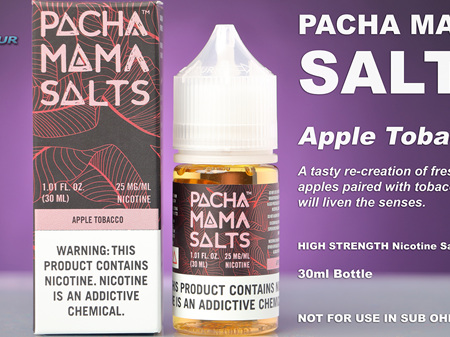 Pacha Mama Salts - Apple Tobacco - 30ml - e-Liquid