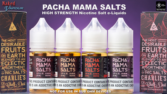 Pacha Mama Salts -  NOW available at Naked Vapour