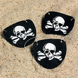 Pack of 12 Felt Pirate Eye Patches