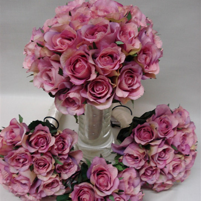 Package 4 pink rose posys