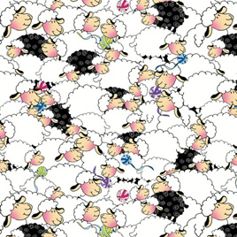 Packed Sheep - White 14559