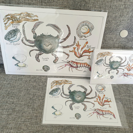 Paddle Crab Greeting Card