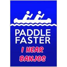 Paddle Faster Fridge Magnet