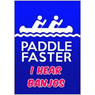 Paddle Faster Fridge Magnet
