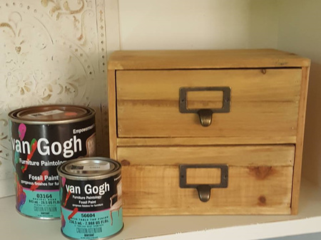 Paint & Stenciled Drawers