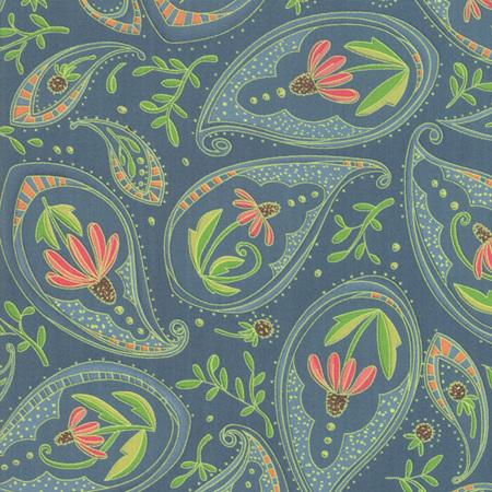 Painted Meadow Teal Coneflower Paisley 4866112