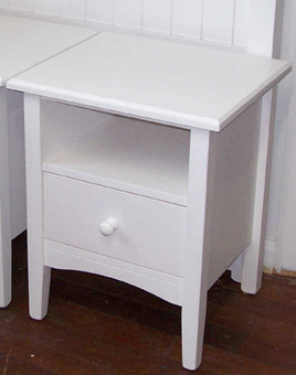 Quail Bedside Cabinet - Shelf & Drawer
