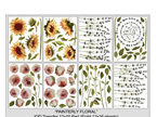 Painterly Florals IOD Transfer Pad