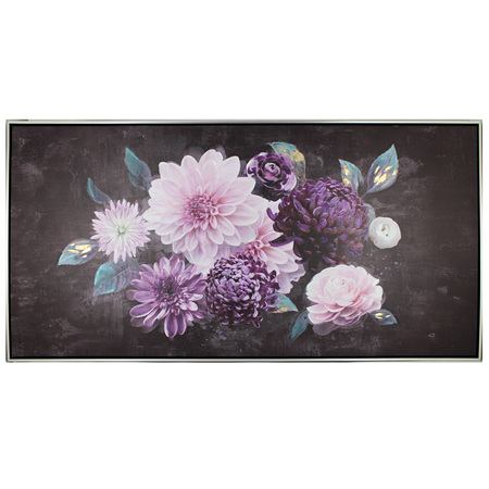 Painting Nightfall Dahlia 123x63cm