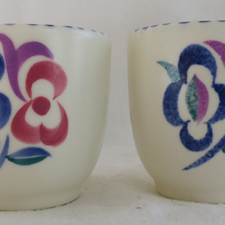 Pair of Poole egg cups