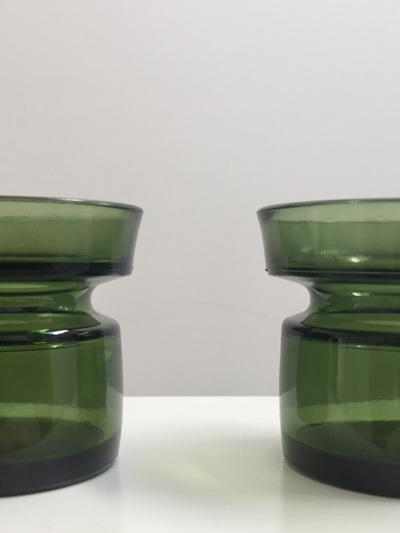 Pair of Vintage Dansk Design Ltd Votive Candle Holders in Green