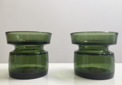 Pair of Vintage Dansk Design Ltd Votive Candle Holders in Green