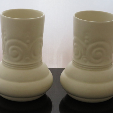 Pair small cream vases