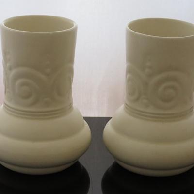 Pair small cream vases