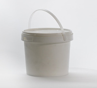 Pallet (576 units) of 4 litre food grade plastic buckets with lids