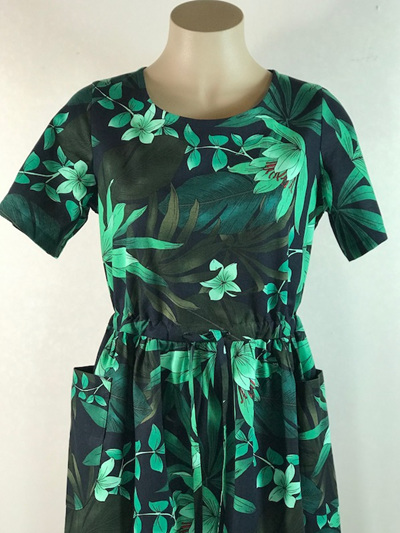 Palm leaves Bianca dress