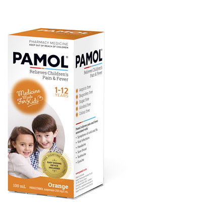 PAMOL® All Ages Orange Colourfree 100mL
