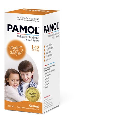 PAMOL® All Ages Orange Colourfree 200mL