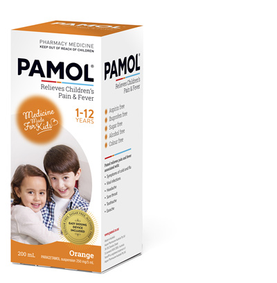 PAMOL® All Ages Orange Colourfree 200mL