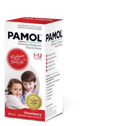 PAMOL® All Ages Strawberry Colourfree 100mL