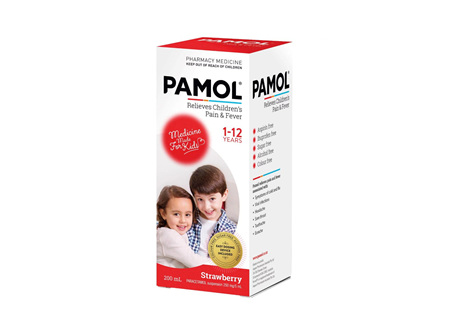 Pamol All Ages Strawberry Colourfree 200ml