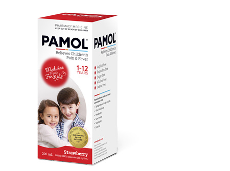 PAMOL® All Ages Strawberry Colourfree 200mL