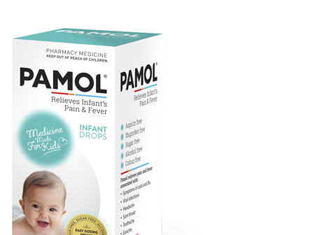 PAMOL® Infant Drops Colourfree 60mL