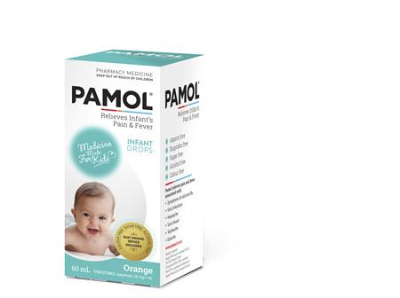 PAMOL® Infant Drops Colourfree 60mL