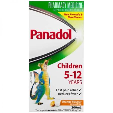 PANADOL CHILD 5 12YRS CF ORNG 200ML