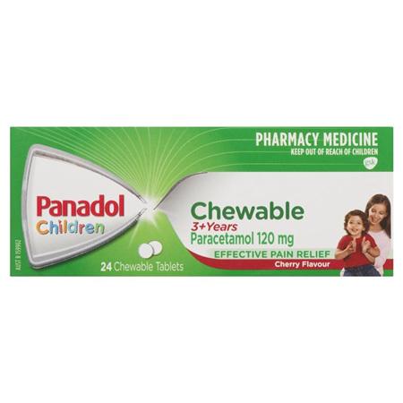 PANADOL CHILD CHEW TAB 24